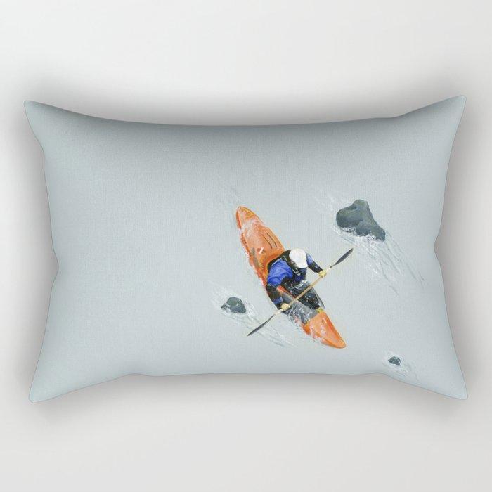 Solitude- Kayaker Rectangular Pillow
