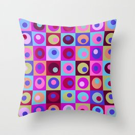 Circles and Squares Pattern 1 Throw Pillow