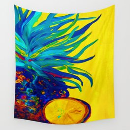 Blue Pineapple Abstract Wall Tapestry