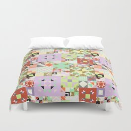 Geometric Quilt Pattern Duvet Cover