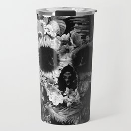 Garden Skull Dark B&W Travel Mug