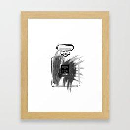 Black perfume #2 Framed Art Print