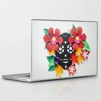 calavera Laptop & iPad Skins featuring Calavera 1 by Marine Coutroutsios