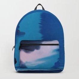 glitch art, sea, fire Backpack