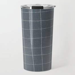 Silver grid Travel Mug