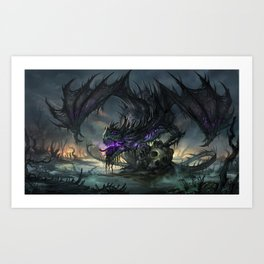 Black Dragon Art Print