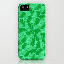 Monstera Leaf 2d Graphic Pattern iPhone Case