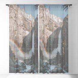 Yosemite Falls Rainbow Sheer Curtain