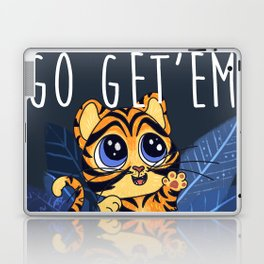 Go Get Em Cute Baby Tiger Animal Lover T Shirt Gift Laptop & iPad Skin