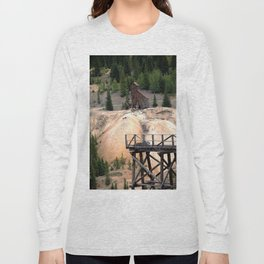 1880's Gold Rush - Mine Headshaft on Red Mountain from the Idarado Ore Cart Track Long Sleeve T-shirt
