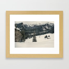 Mountains in the wintertime Framed Art Print
