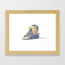 Street Sweeper Framed Art Print