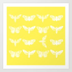 Yellow Moth's; Art Print