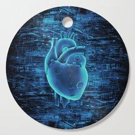 Gamer Heart BLUE TECH / 3D render of mechanical heart Cutting Board