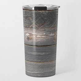 distressed western country farmhouse chic dark grey woodgrain barn board wood plank  Travel Mug