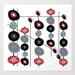Mid-Century Modern Art Atomic Cocktail Art Print