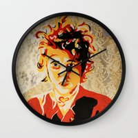 dylan Wall Clocks featuring Dylan by Ben Brush