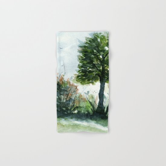 A Lovely Day, Abstract Landscape Art Hand & Bath Towel