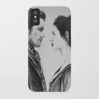 outlander iPhone & iPod Cases featuring Jamie and Claire ~ Outlander by Helenfaerieart