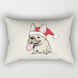 Frenchie Clause French Bulldog Santa Rectangular Pillow