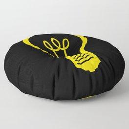 Yellow Lightbulb Floor Pillow