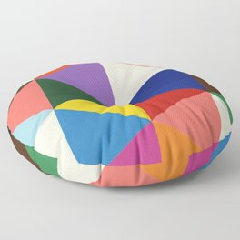 Color And Shape Triangles Floor Pillow