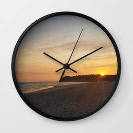 The Sunset Over St. Clair Wall Clock