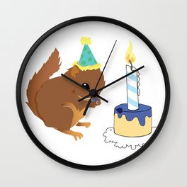 Birthday squirrel Wall Clock