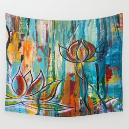 """""""Rise Up"""" Original Painting by Krista J. Brock Wall Tapestry"""