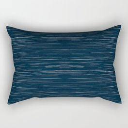 Meteor Stripes - Dark Denim Rectangular Pillow