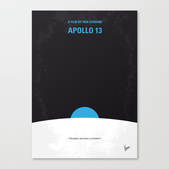 No151 My Apollo 13 minimal movie poster Canvas Print