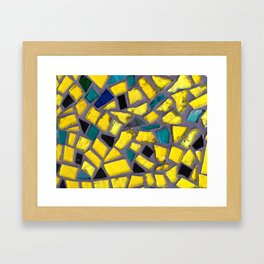 yellow glass Framed Art Print