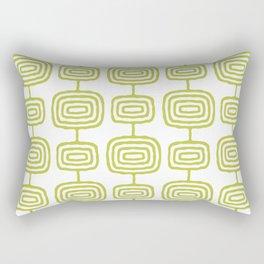 Mid Century Modern Atomic Rings Pattern Chartreuse 3 Rectangular Pillow