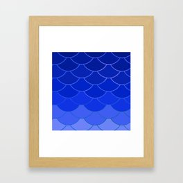 Blue Scales Framed Art Print