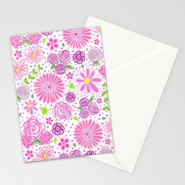 Happy Spring Flowers Stationery Cards
