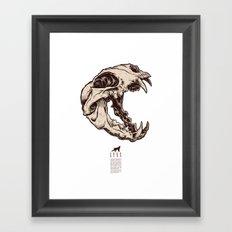 Lynx Skull Framed Art Print
