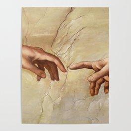 """Michelangelo """"Creation of Adam""""(detail) Poster"""