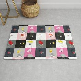 Australian cockatoos tile pattern Rug