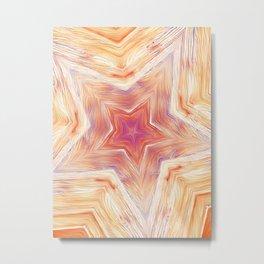 Wood Star Mandala #2 Metal Print