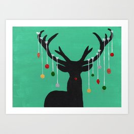 Deck the Antlers Art Print