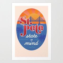 St. Pete State of Mind Art Print