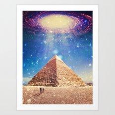Pyramid beam Art Print