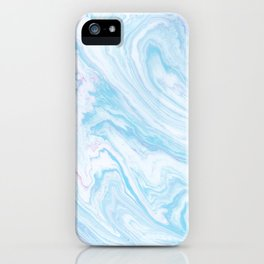 Blue Sky Marble iPhone Case