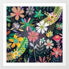 Funky garden Art Print