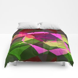 Rosas Moradas 1 Abstract Polygons 2 Comforters