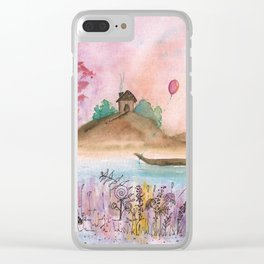 Watercolor Refuge Landscape Clear iPhone Case