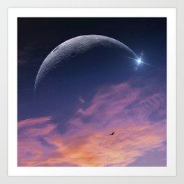 luna oceana Art Print