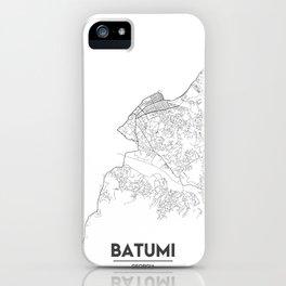 Minimal City Maps - Map Of Batumi, Georgia. iPhone Case