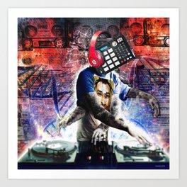 The DJ Art Print