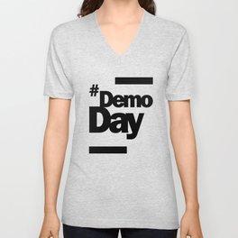 Demo Day - Hashtag Demoday Unisex V-Neck